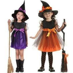 Infant Kids Baby Girls Halloween Costume Witch Clothes Party