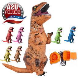 Inflatable Dinosaur T-REX Adults Child Costume Jurassic Hall
