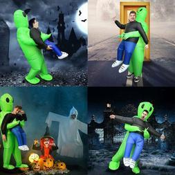 Inflatable Funny Green Alien Costume Adult&Kids Halloween Co