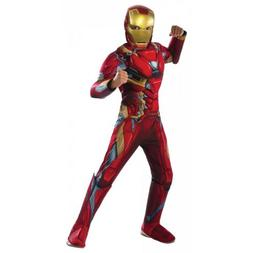 Iron Man Costume Kids Superhero Halloween Fancy Dress
