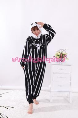 Jack <font><b>Skeleton</b></font> Pajamas Animal Cosplay <fo