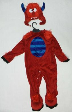 Just Pretend Kids JPTOA-RMO-H13-12 Red Monster Costume Small