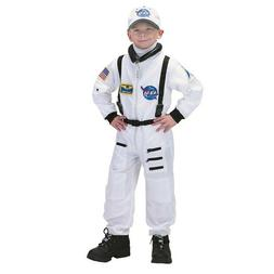 Aeromax Jr. Astronaut White Costume Suit with Cap and Embroi