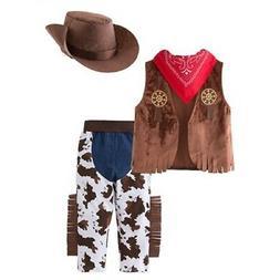 Kid Boys Halloween Cowboy Costume 4pcs Set Cosplay Event Dre