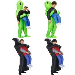 Kids Adults Inflatable Alien Costume Halloween Party Monster