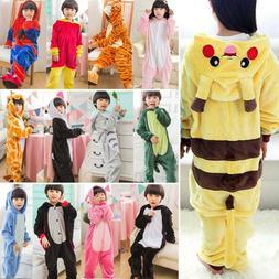 Kids Animal Kigurumi Costume Cospaly Boy Girl Pikachu Pajama