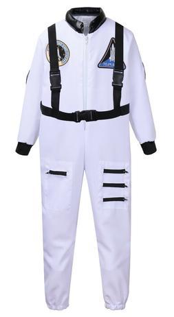 Kids Astronaut Costume, Boys & Girls While Astronaut Role Pl