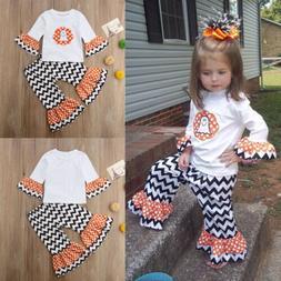 Kids Baby Girls Halloween Costume Cute Ghost Long Sleeve Top