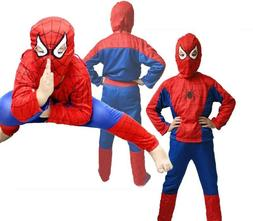 Kids Boys 3Pcs Set Spiderman Fancy Dress Outfits Cosplay Par