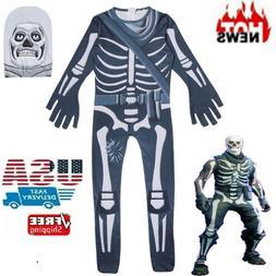 Kids Boys Fortnite Costume Cosplay Halloween Fancy Dress Par