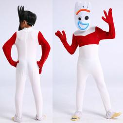 Kids Boys Toy Story 4 Forky Cosplay Costume Halloween Fancy