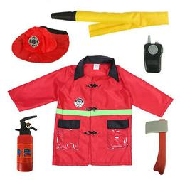 TopTie Kids Career Role Play Costume Dress Up Set with Toys,