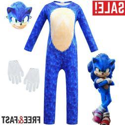 kids cosplay sonic the hedgehog boy jumpsuit