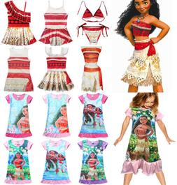Kids Costume Moana Princess Baby Girls Cosplay Fancy Dress N