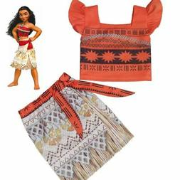 Kids Costume Movie Moana Princess Girls Cosplay Fancy Dress