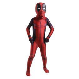 Kid Deadpool Cosplay Costume Spandex Lycra Zentai Halloween