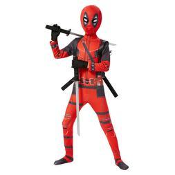 Kids Deadpool Jumpsuit Men Spandex Zentai Bodysuit Halloween