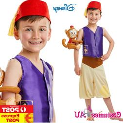 Kids Disney Aladdin Costume Genie Arabian Prince Child Live