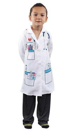 Kids Doctor Scientist White Lab Coat Children  Boys Girls Fa