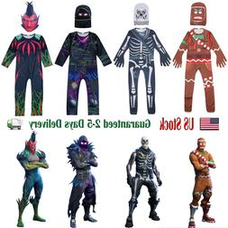 KIDS FORTNITE COSTUME SKULL TROOPER RAVEN MERRY MARAUDER COS