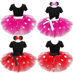 Kids Girls Baby Toddler Cartoon Mouse Outfit Party Costume T