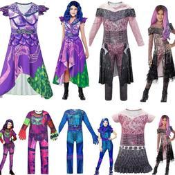 Kids Girls Descendants 3 Audrey Mal Jumpsuit Halloween Cospl