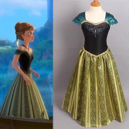 girls frozen elsa anna princess dress kids