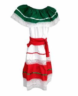Kids Girls Mexican Traditional Cinco De Mayo Dancer Coco Cos
