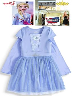 Kids Girls Princess Queen Elsa Dress birthday Cosplay Costum
