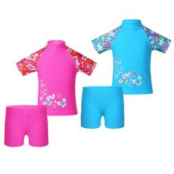 Kids Girls UV 50+ Sun Safe Swimsuit Swimwear Baby Surf Divin