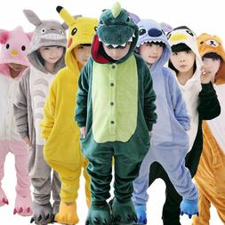 Kids Animal Kigurumi Costume Cospaly Boy Girl Pikachu Pajama
