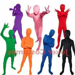 Kids Morphsuit Boys Girls Costume Plain Color Bodysuit Great