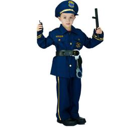 Kids Policeman Costume Halloween Cool Boys Police Uniform Fa