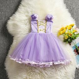 Kids Princess Rapunzel Halloween Costume Baby Girl Birthday
