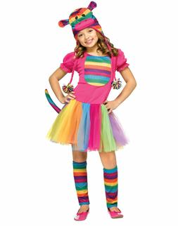 Fun World Kids Rainbow Sock Monkey Child Costume SMALL 4-6 N