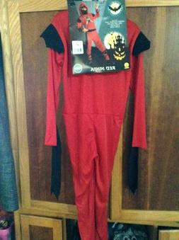 KIDS RED STEALTH NINJA COSTUME BOYS L 12 14 NWT HALLOWEEN CO