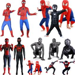 Kids Spiderman Costume Cosplay Party Fancy Dress Halloween O