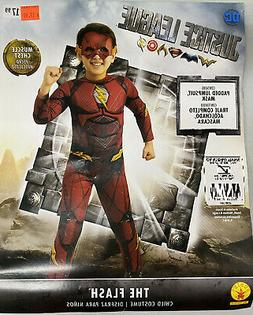 Kids The Flash Costume DC Comics Superhero Size Small 4-6