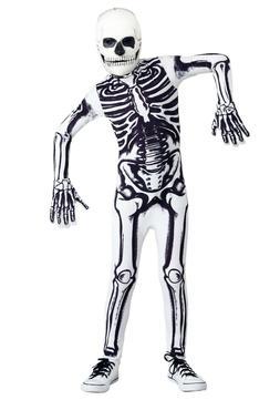 Kids White Skeleton Costume Size S M L XL