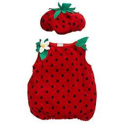 Koala Kids Strawberry Plush Halloween Costume Dress Up Infan