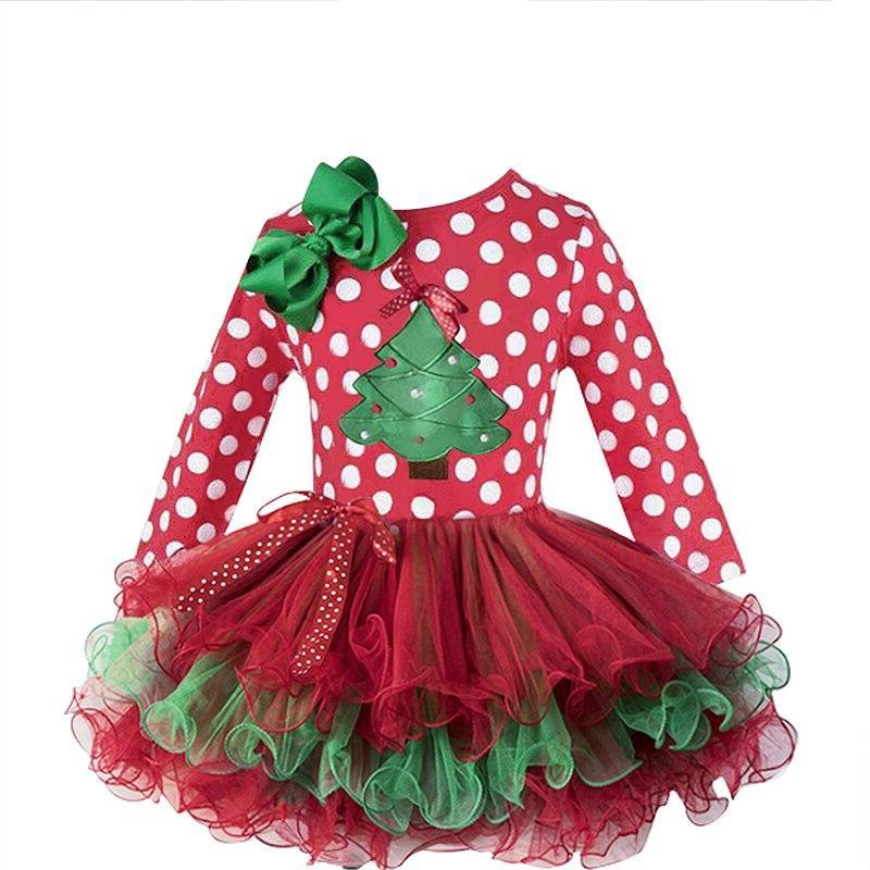 2-6T Santa <font><b>Dress</b></font> Year <font><b>Costume</b></font> Baby Girl Clothes