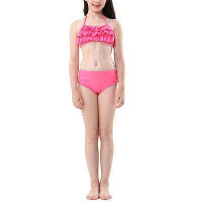 3Pcs Kids Girls Mermaid Set Swimming US