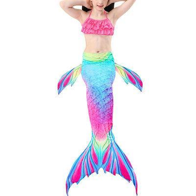 3Pcs Girls Mermaid Tail Set