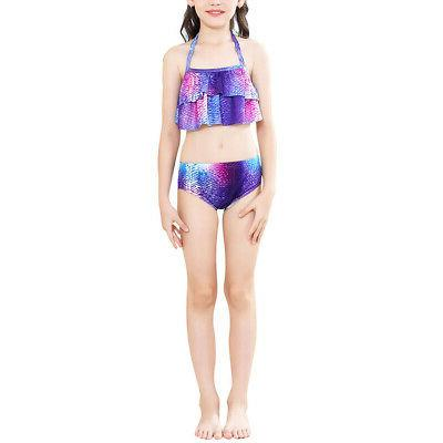 3Pcs Mermaid Tail Swimsuit Set