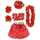 BESTOYARD 6Pcs Tropical Hula Grass Skirt Hawaiian Fancy Dres
