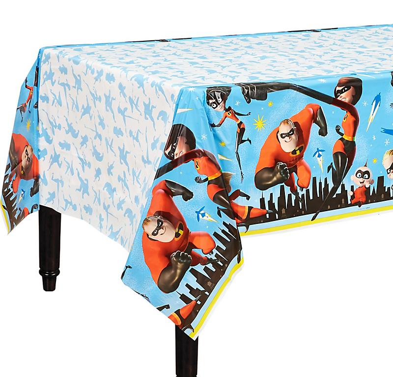 Disney/ Pixar Incredibles 2 Plastic Table Cover Birthday Dec