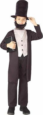 Morris Costumes Men's Long Sleeve Abraham Lincoln Child Cost