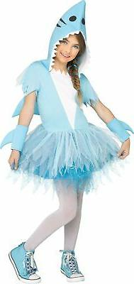 Adorable Shark Hooded Tutu Dress with Fin & Sleevelets Child
