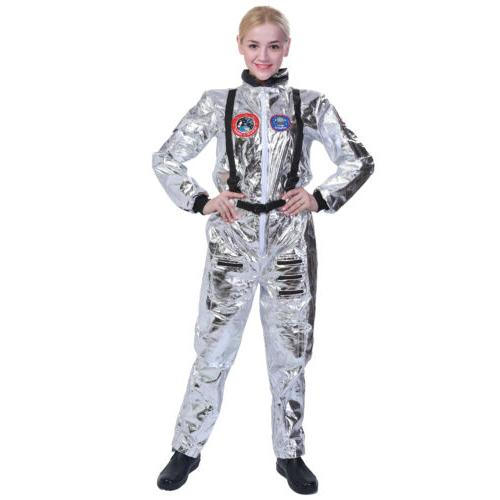 Adult Astronaut Cosplay Space Silver Shuttle