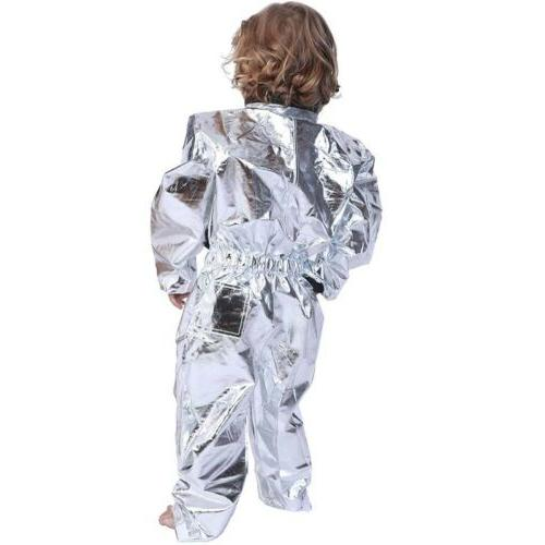 Adult Astronaut Cosplay Suit Silver Shuttle Costume